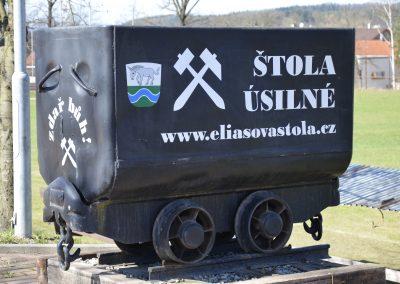 reklama důlní vozík