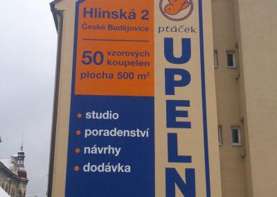 reklamní fasády Koupelny Ptacek